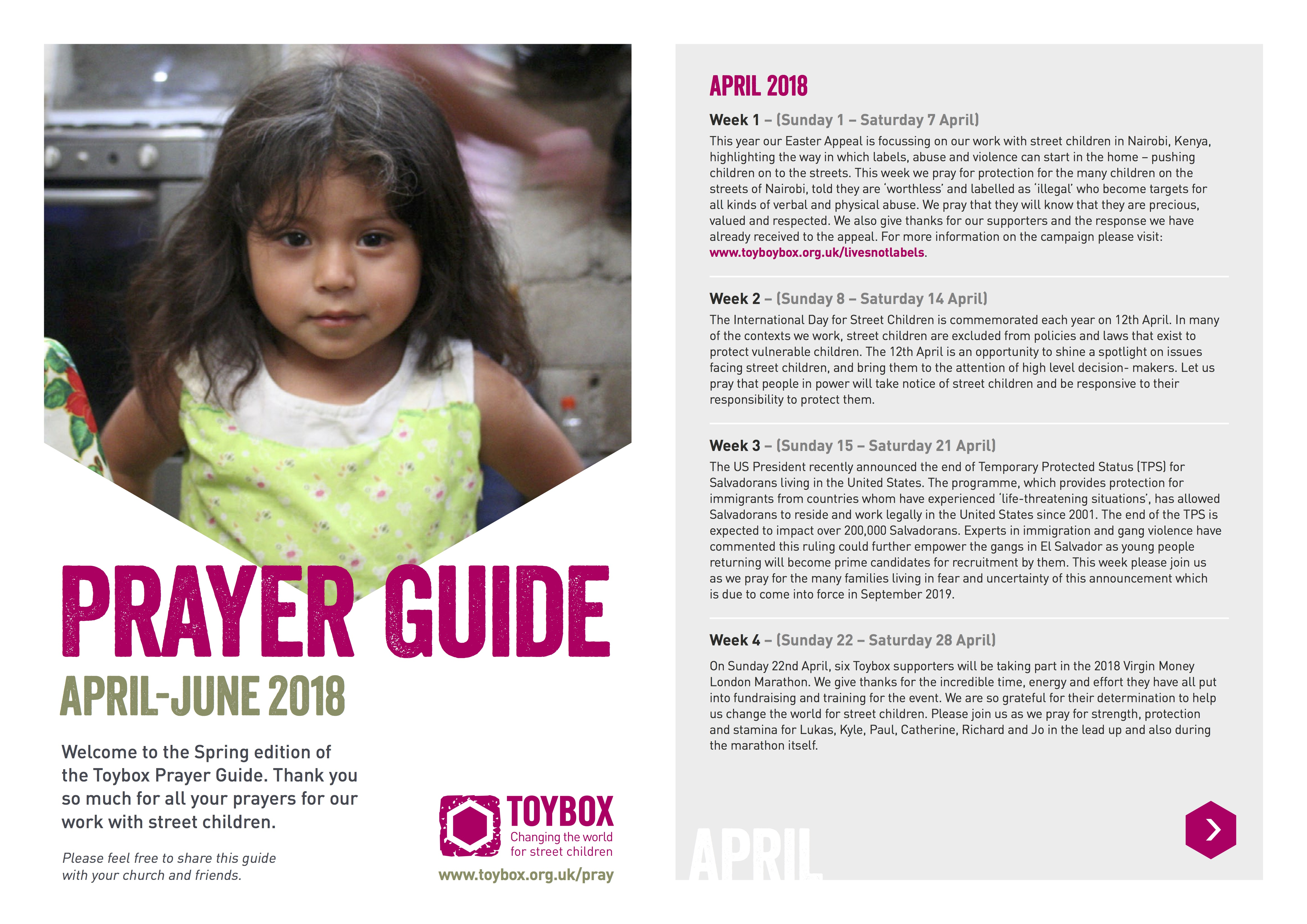 ToyBox Prayer Guide